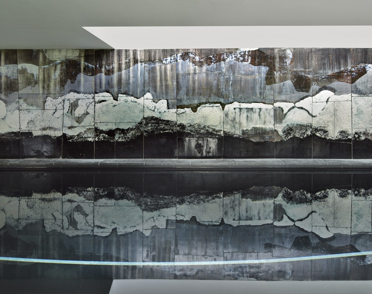 Mural, 2016, grès émaillé, §2,50x15 m, Maison Urvater, Belgique.§ À la demande de Marie-Christine Dorner.