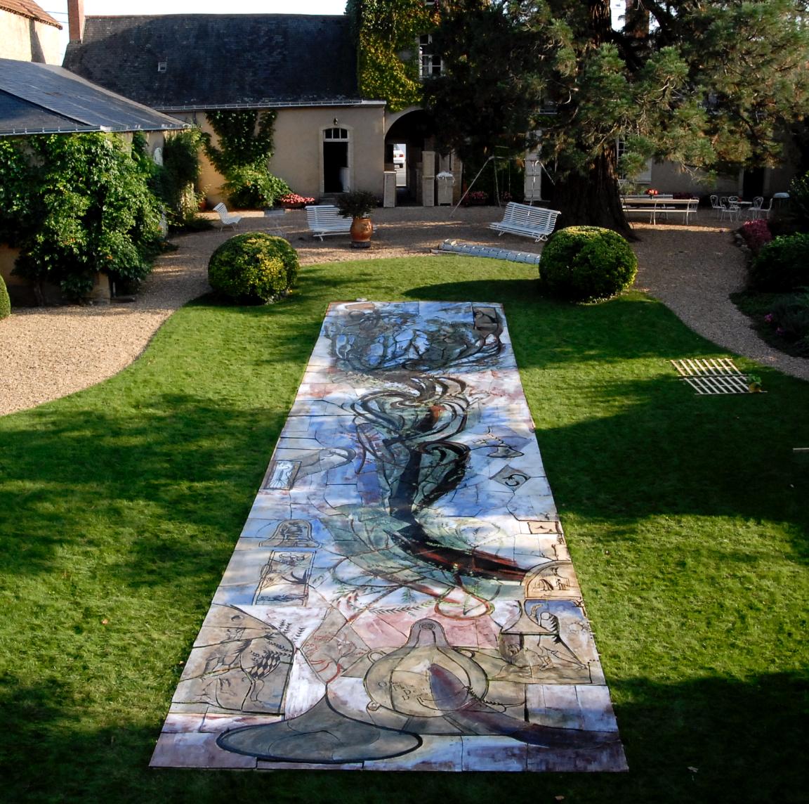 Fresque, 2009-2010, grès émaillé, 17x4 m, Paris.