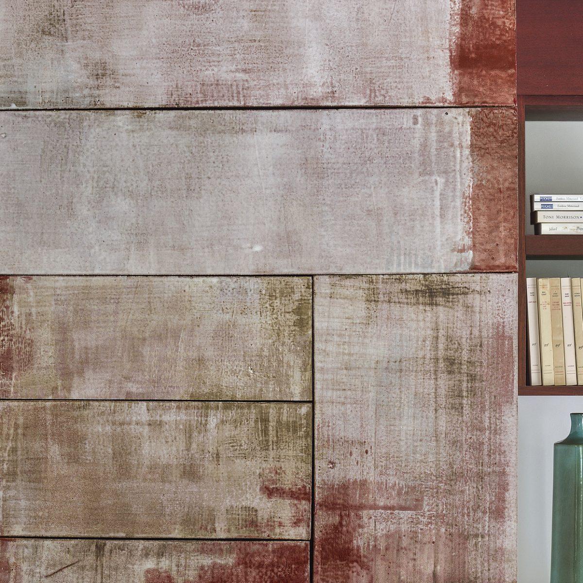Mural, 2012, grès émaillé, 3,13 x 1,20m, La Poulido. § À la demande de Marie-Christine Dorner.